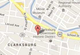 clarksburg audiology map
